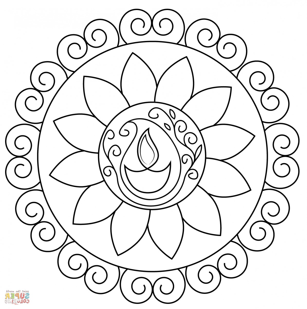 Top 50 Rangoli Designs With Colors For Painting Drawing