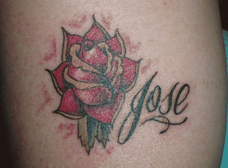 Floral Name Tattoo Designs For Women