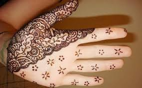 half and half mehendi design