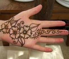 leaf and floral mehendi design